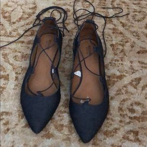 Denim lace up shoe from Mossi I